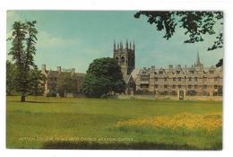 Inghilterra England Merton College From Christ Church Meadow Oxford Viaggiata 1978 Condizioni Come Da Scansione - Oxford