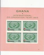 1965 Ghana ICY Cooperation  Souvenir Sheet Complete  MNH - Ghana (1957-...)