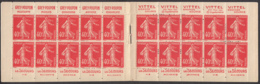 France 1926 MNH Sc 178a 40c Sower, Vermilion Complete Booklet - Usage Courant