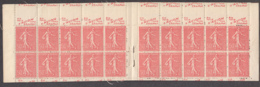 France 1926 MNH Sc 146a 50c Sower, Vermillion Complete Booklet Chemise Miscut - Carnets