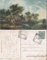 CARTOLINA PITTORICA SOGGETTO MULINO.ANNULLO 13/06/1911. - Cartoline