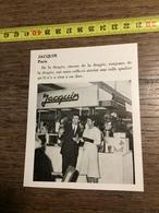 ANNEES 60 PUBLICITE STAND EXPOSITION JACQUIN PARIS DRAGEES - Alte Papiere