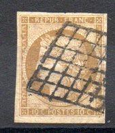FRANCE - 1849 - YT N° 1 Signé - Cote: 355,00 € - 1849-1850 Cérès