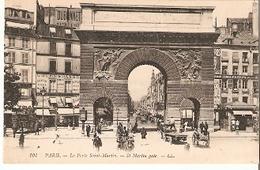 Postal Paris. Francia Nº 101. La Porte Saint-Martin. Ref. 7f-2430 - Tranvía