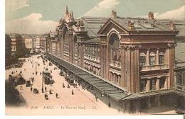 Postal Paris. Francia Nº 1780. Le Gare Du Nord. Ref. 7f-2432 - Tranvía