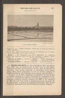 1921 BOURG DE BATZ CHEMIN DE FER RESEAU D'ORLEANS STATION DE LA LIGNE DU CROISIC A 518 KM DE PARIS - Ferrocarril