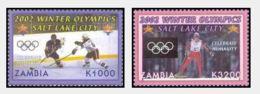 Zambia 2002 Winter Olympic Games - Salt Lake City, USA (2v). MNH - Zambia (1965-...)