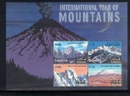 Zambia 2002 International Year Of Mountains (ss/4v). MNH - Zambia (1965-...)