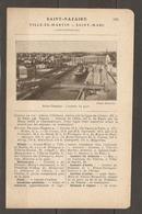 1921 SAINT NAZAIRE VILLE ES MARTIN SAINT MARC CHEMIN DE FER RESEAU D'ORLEANS STATION DU CROISIC - Chemin De Fer