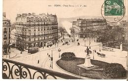 Postal Dijon. Francia. Nº 511. Place Darey.  Ref. 7f-2435 - Tranvía
