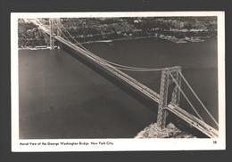 New York City - Aerial View Of The George Washington Bridge - Photo Card - New York City