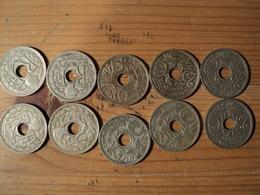 25 CENTIMES LINDAUER. LOT DE 10 PIECES DIFFERENTES. 1918 / 1937. - Francia