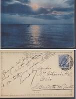 CARTOLINA PITTORICA SOGGETTO TRAMONTO.ANNULLO 24/07/1922. - Cartoline