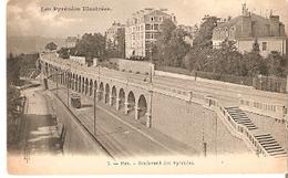 Postal Pau. Francia. Nº 7. Boulevard Des Pyrenees.  Ref. 7f-2436 - Tranvía