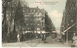 Postal Toulouse. Francia. La Rue Alsace-Lorena.  Ref. 7f-2437 - Tranvía