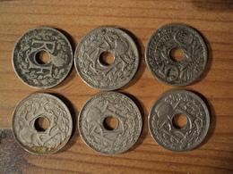 5 CENTIMES LINDAUER PETIT MODULE. LOT DE 6 PIECES DIFFERENTES. 1921 / 1938 - Francia