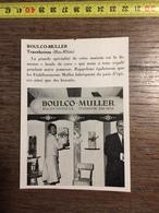 ANNEES 60 PUBLICITE STAND EXPOSITION BOULCO BOULE DE COCO MULLER FRERES TRAENHEIM TRAENHEINM - Alte Papiere