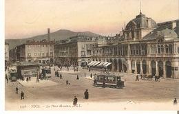 Postal Nice. Francia. Nº 1136. La Place Massena.  Ref. 7f-2441 - Tranvía