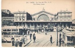 Postal Paris. Francia. Nº 204. Le Gare De L'Est.  Ref. 7f-2442 - Tranvía