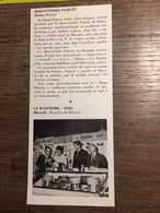 ANNEES 60 PUBLICITE STAND EXPOSITION BISCOTTERIES PAQUOT REIMS BOSPHORE SODI MARSEILLE - Alte Papiere