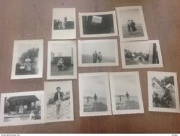 Bredene 12 Petites Photos Originale Camping 1954 - Bredene