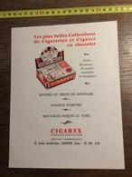 ANNEES 60 PUBLICITE CIGARETTES CHOCOLAT CIGAREX CONFISEUR CHOCOLATIER CHARENTON - Alte Papiere