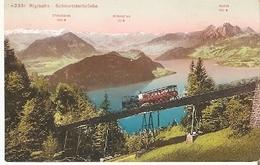Postal Suiza. Tren Cremallera.  Ref. 7f-2449 - Tranvía