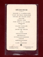 MENU DEJEUNER - QUESTEMBERT - KERMARIA - CARRET TRAITEUR - Questembert