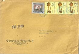 """Airmail Brief  """"Comercial Suiza, San Salvador"""" - Uster              1977 - El Salvador"""