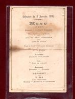 MENU DEJEUNER - 9 JANVIER 1895 - Menus