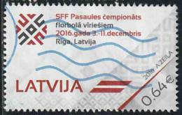 Lettonie 2016 Yv. N°952 - Floorball - Oblitéré - Lettonie