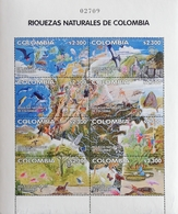Colombia 2002 Natural Riches Of Colombia Sheet Of 8,Scott $45 - Colombia