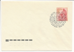 Mi U 5 III FDC Stationery Cover / Fragment Of Monument Vaidelotis - 4 May 1991 - Lettonie