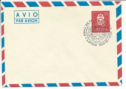 Mi U 6 II FDC Stationery Cover / Fragment Of Monument Vaidelotis - 4 May 1991 - Lettonie