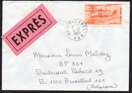 Lettre Exprès - St Raphael - Bruxelles -  4 Juillet 1985 - Marcophilie (Lettres)