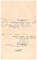 PUTEAUX Contrôle Médical Formule 943 Service Médical Par Tubes Pneumatiques Diagnostic Ob 1950 - Marcophilie (Lettres)