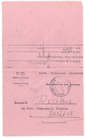 PARIS XIII Bulletin De Consultation Formule 943 Rose Service Médical Par Tubes Pneumatiques Diagnostic Ob 1950 - Marcophilie (Lettres)