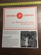 ANNEES 60 PUBLICITE STAND EXPOSITION CONFISERIES LEO SWEET LEOPOLD BRUXELLES - Alte Papiere