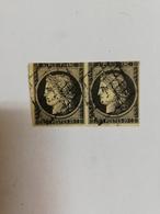 France - Cérès N° 3 - 20 C. - Paire Horizontale - Oblitéré Grille - 1850 - - 1849-1850 Cérès