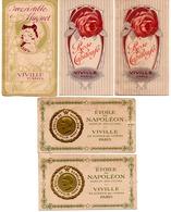 LOT DE 5 ANCIENNES CARTES PARFUMEES - VIVILLE PARIS - Vintage (until 1960)