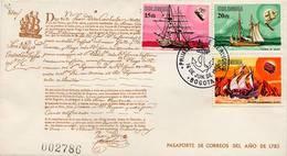 Lote 1118-9-7F, Colombia, 1966, SPD-FDC, Historia Navegacion Colombiana, Boats, River Mail - Colombia