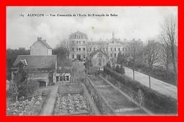 CPA (61) ALENCON.  Vue D'ensemble De L'Ecole St-François De Sales, Jardin...G147 - Alencon