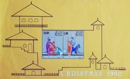 SRI  LANKA  1990 Christmas S/S - Stamps