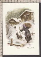PT113/ Annick TERRA-VECCHIA, *En Hiver, La Vie En Montagne*, N° T39 - Schilderijen