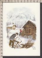 PT117/ Annick TERRA-VECCHIA, *En Hiver, La Vie En Montagne*, N° T41 - Schilderijen