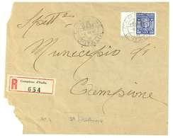 CAMPIONE - EMISSIONI AUTONOME - STORIA POSTALE LETTERA RACCOMANDATA USO INTERNO - 4. 1944-45 Repubblica Sociale