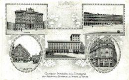 PUBLI PUBLICIDAD QUELQUES INMEUBLES DE LA COMPAGNIE DES ASSURANCES GENERALES DE TRIESTE ET VENISE - Werbepostkarten