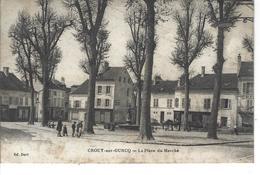 77 - CROUY SUR OURCQ - T.B. Vue Animée De La Place Du Marché ( Vitrerie , Société Générale ) - France