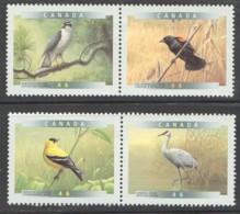 1999  Birds Of Canada Goshawk, Blackbird, Goldfinch, Crane  Singles From Sheets Sc 1770-3 MNh - 1952-.... Règne D'Elizabeth II