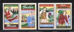 1998  Legendary Canadians  2 Se-tenant Pairs  Sc 1750-3 MNH - 1952-.... Reign Of Elizabeth II